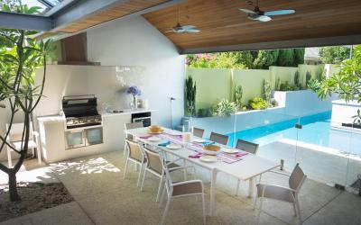 Cottesloe Luxury Villa- Outdoor area- Short stay holiday accommodation rentals