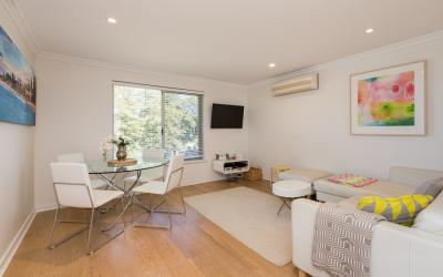 Cottesloe Beach Pines Apartment  - Living Area - holiday accommodation rentals for short term stays in Perth