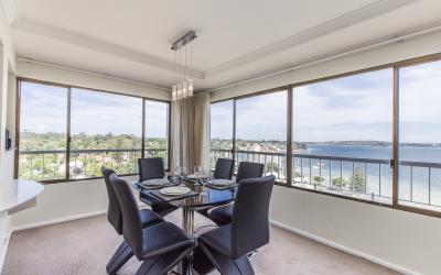 Skyview Claremont Apartment - Dining Area - holiday accommodation rentals for short term stays in Perth