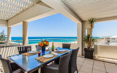 Golden Sands Beach Apartment - Dining Area/Balcony - holiday accommodation rentals for short  term stays in Perth