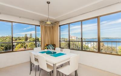 Swan River Executive Apartment - Dining Area - holiday accommodation rentals for short term stays in Perth