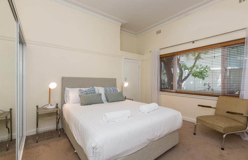 Cottesloe Bel-Air Apartment - Master Bedroom - holiday accommodation rentals for short term stays in Perth