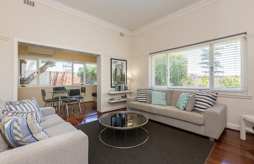 Cottesloe Bel-Air Apartment - Open Plan Living - holiday accommodation rentals for short term stays in Perth