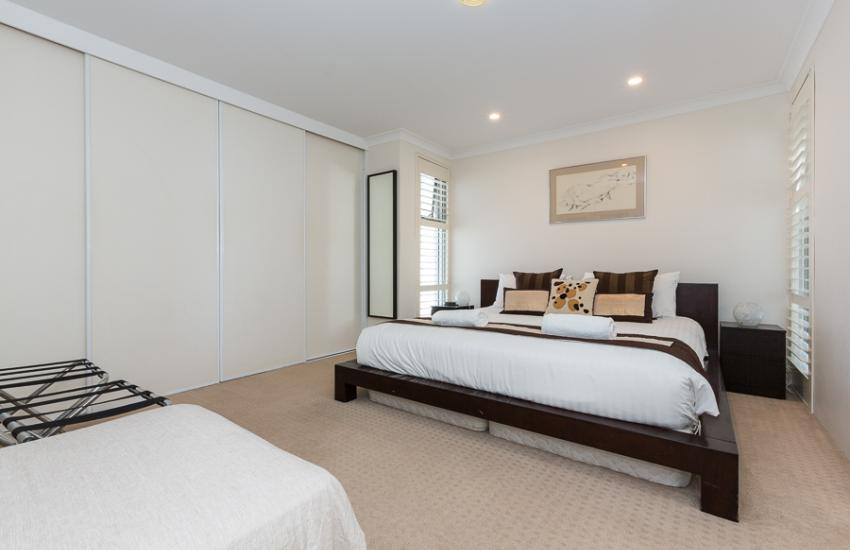 Golden Sands Beach Apartment - Bedroom - holiday accommodation rentals for short  term stays in Perth