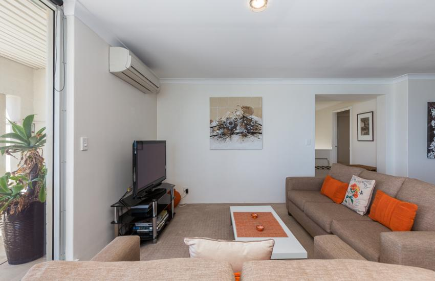 Golden Sands Beach Apartment - Living Area - holiday accommodation rentals for short  term stays in Perth