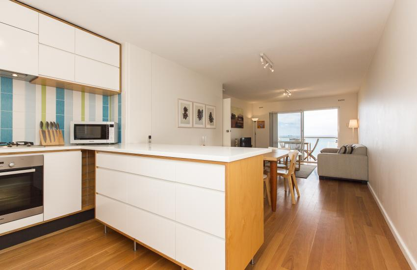 Cottesloe Beachlife Apartment - Kitchen/Living Area - holiday accommodation rentals for short term stays in Perth