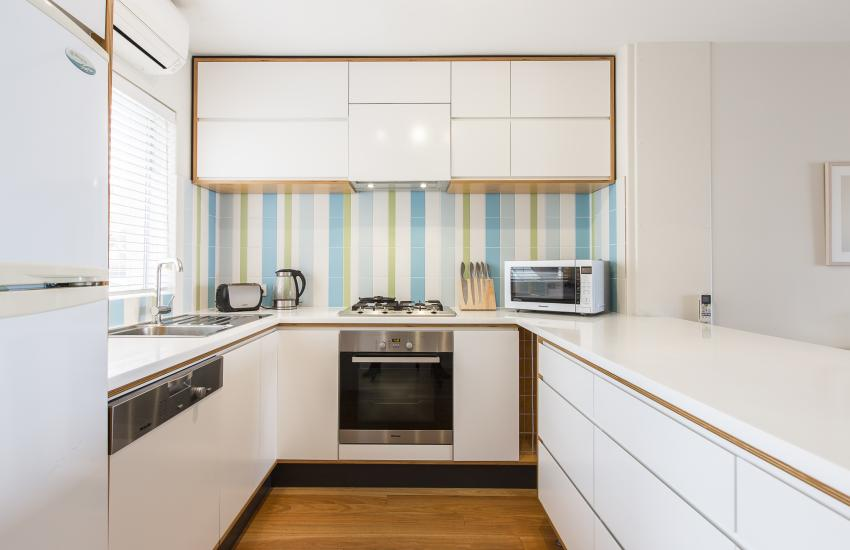 Cottesloe Beachlife Apartment - Kitchen - holiday accommodation rentals for short term stays in Perth