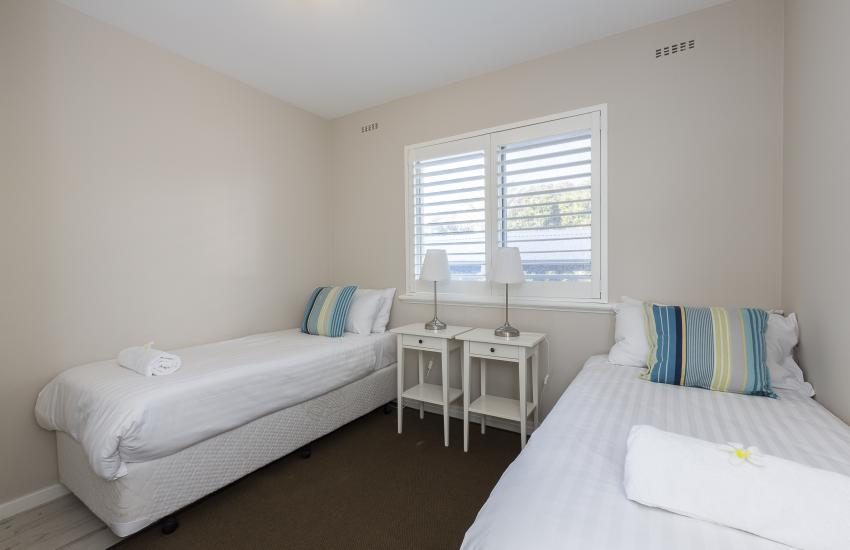 Cottesloe Azura Apartment - Second Bedroom - Short Term Accommodation Holiday Apartment Perth Western Australia
