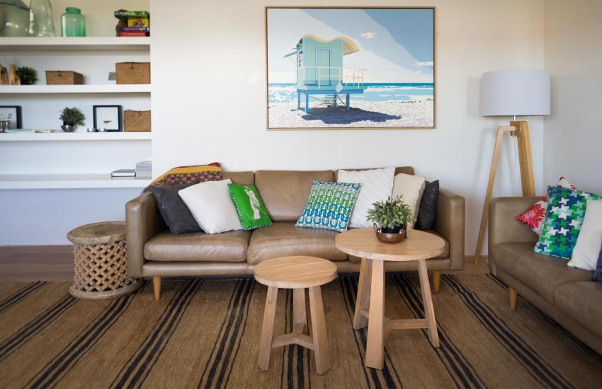 Cottesloe Executive Beach House - Living Area - holiday accommodation rentals for short term stays in Perth