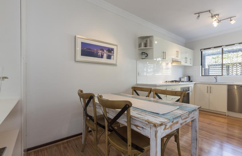 The Sea Salt Abode - Dining Area - Cottesloe Short Stay Accommodation Holiday Rental Perth