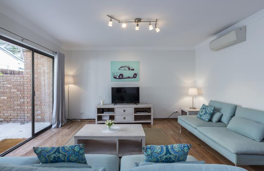 The Sea Salt Abode - Lounge Room - Cottesloe Short Stay Accommodation Holiday Rental Perth