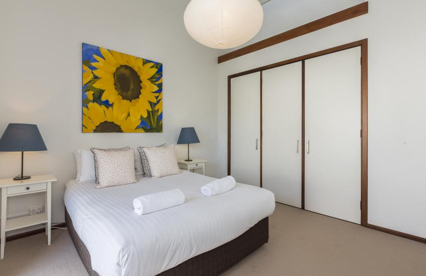 The Sea Salt Abode - Master Bedroom - Cottesloe Short Stay Accommodation Holiday Rental Perth