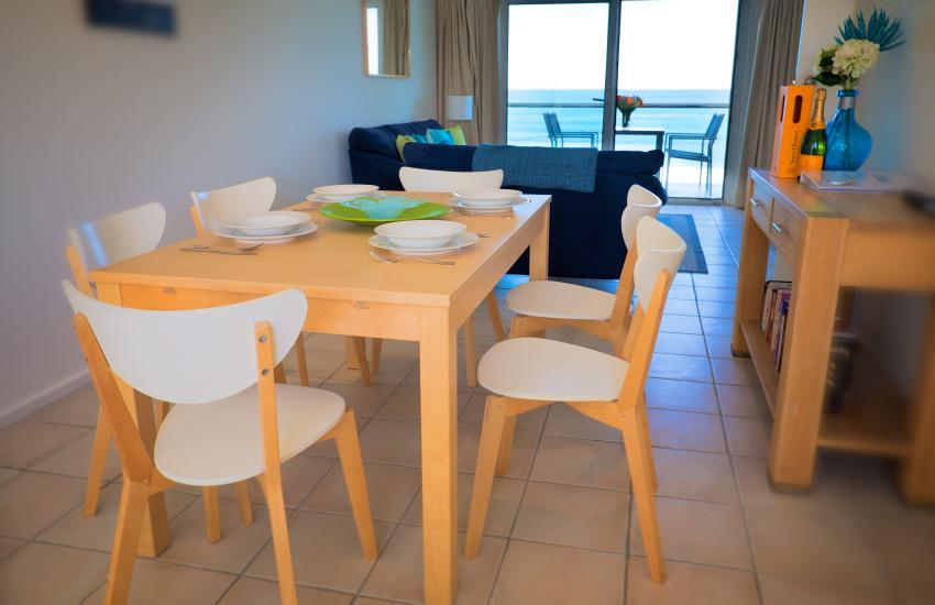 Oceanview Beach Apartment - Dining Area/ Living Area- holiday accommodation rentals for short term stays in Perth