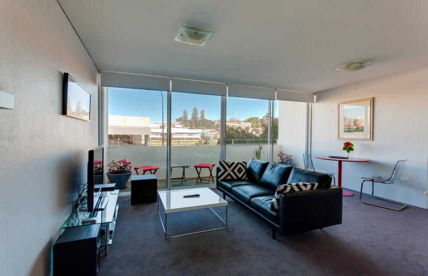 Inmode Claremont Apartment- Living - holiday accommodation rentals for short term stays in Perth