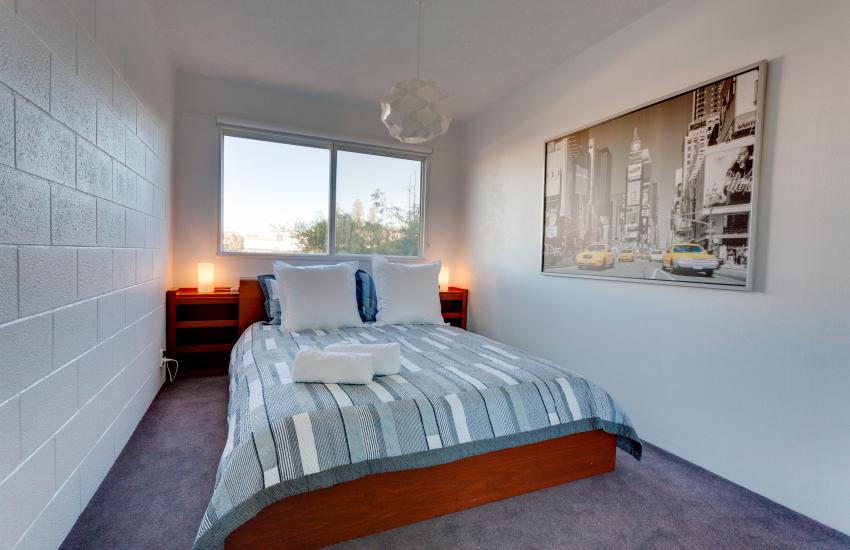 Inmode Claremont Apartment- bedroom- holiday accommodation rentals for short term stays in Perth