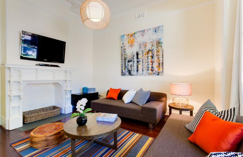 Cottesloe Sunnyside Cottage - LIving Area - holiday accommodation rentals for short term stays in Perth