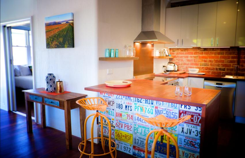 UrbanStyle Claremont Apartment - Kitchen - holiday accommodation rentals for short term stays in Perth