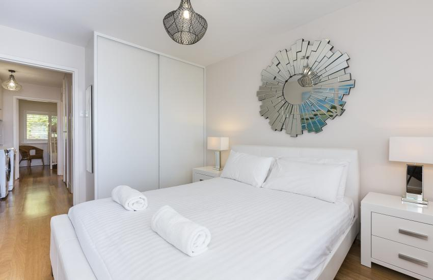 Cottesloe Sakura Blue Apartment - Master Bedroom - holiday accommodation rentals for short term stays in Perth