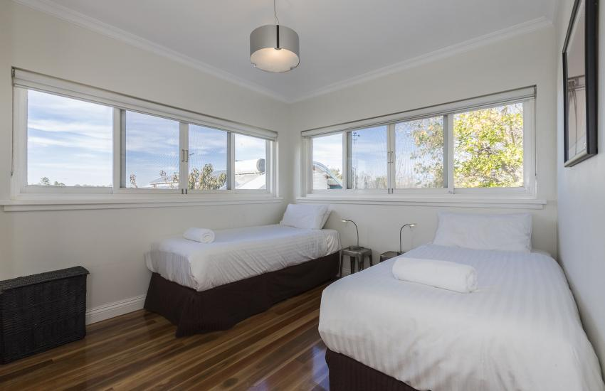 Cottesloe Beach Deluxe Apartment - Bedroom - holiday accommodation rentals for short term stays in Perth