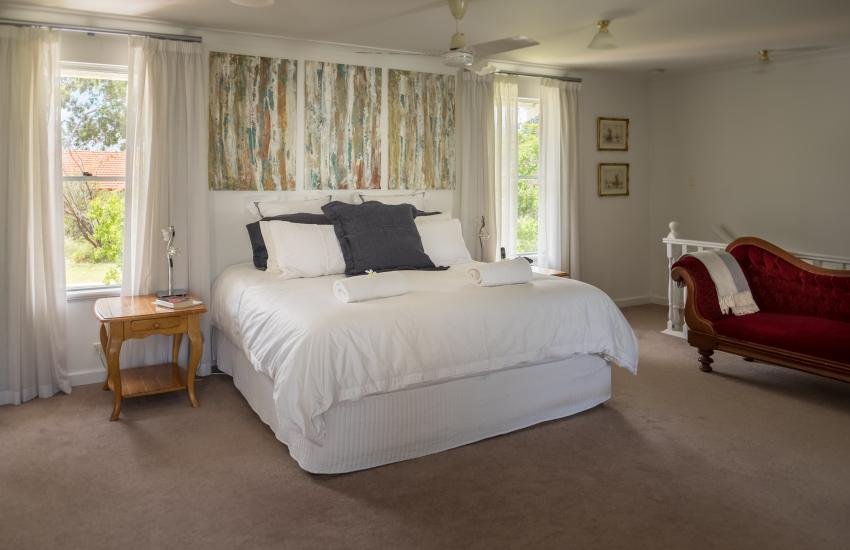 The Kinninmont House, Nedlands - Master Bedroom - Corporate Accommodation in Perth Western Australia