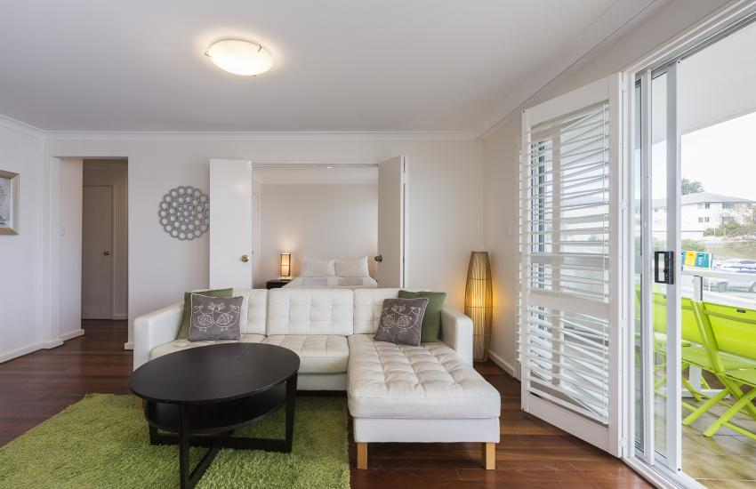 Cottesloe Seaview Apartment - Living Area - holiday accommodation rentals for short  term stays in Perth