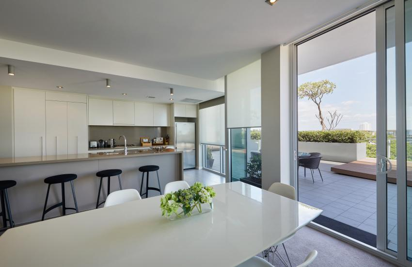 Claremont Quarter Luxury Apartment - Kitchen - holiday accommodation rentals for short term stays in Perth