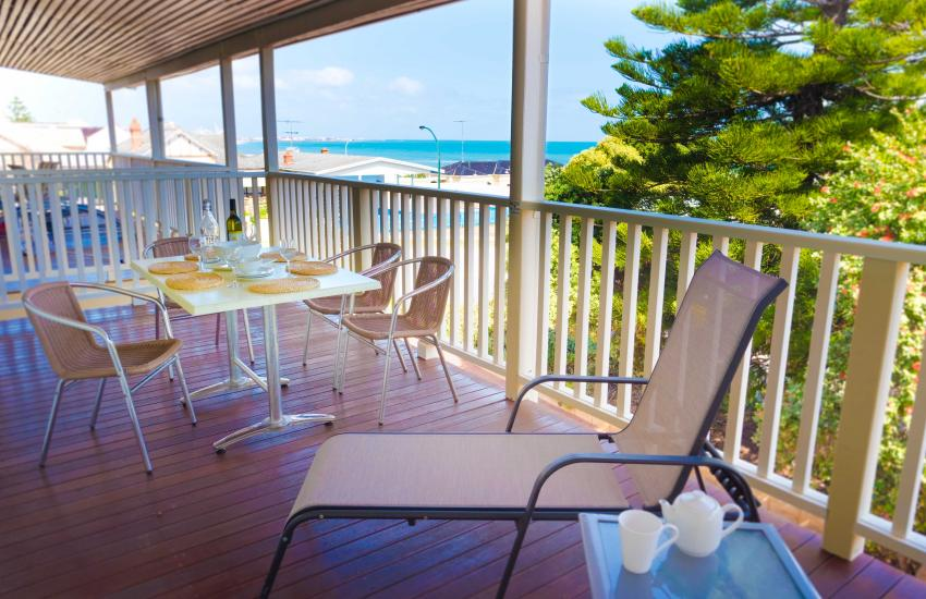 Cottesloe Waters Apartment 8 - Living Area/Balcony - holiday accommodation rentals for short term stays in Pert