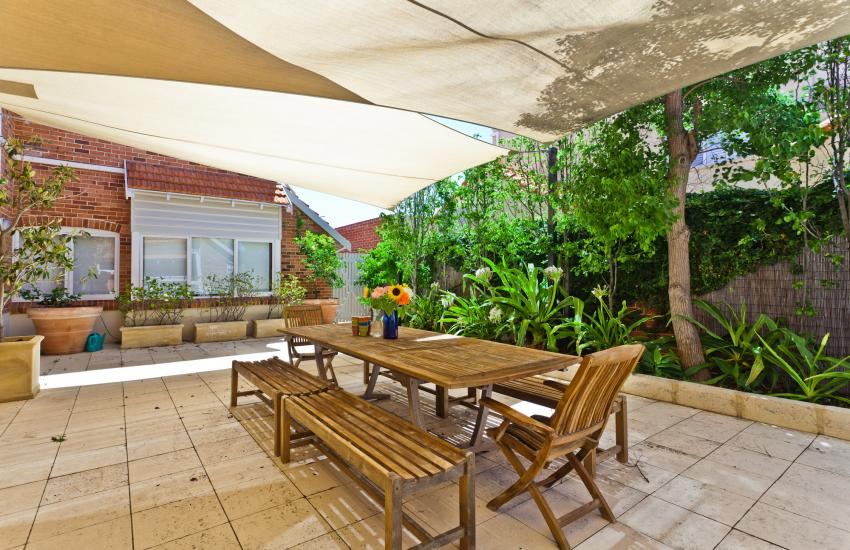 Cottesloe Renaissance Beach House - Outdoor Area- holiday accommodation rentals for short term stays in Perth