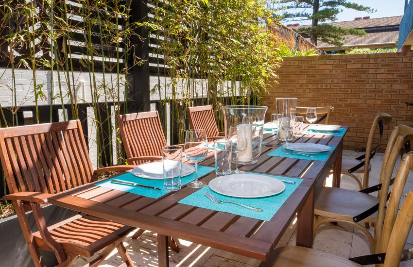 The Sea Salt Abode - Outdoor Area - Cottesloe Short Stay Accommodation Holiday Rental Perth