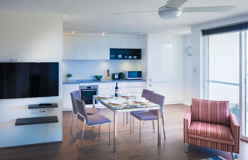 Claremont Vogue Apartment - Living/dining - holiday accommodation rentals for short term stays in Perth