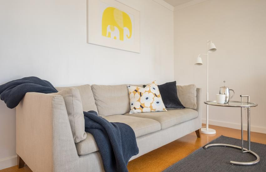 1 bedroom fully furnished apartment, Cottesloe Western Australia - Couch