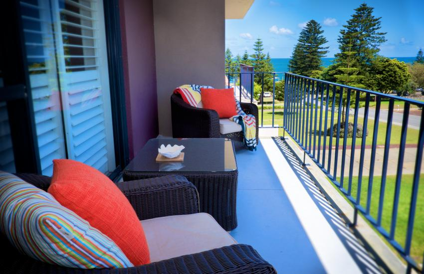 Cottesloe Parkside on the Beach- Balcony/Outdoor Area - holiday accommodation rentals for short term stays in Perth