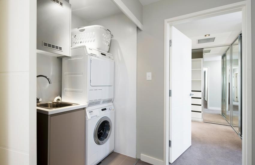 Claremont Quarter Luxury Apartment - Laundry - holiday accommodation rentals for short term stays in Perth